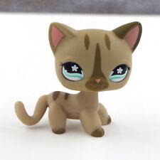LPS Stripe Kitty Flower #468 Eyes #468 Cat Kids Toys Littlest Pet Shop