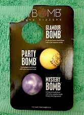 Da Bomb Bath Fizzers 2 Piece Set (Glamour Bomb, Party Bomb, Mystery Bomb) 7oz