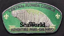 Central Florida Council Bsa Tipisa Oa Lodge 326 Sea World Manatee Rare Csp