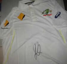 David Warner (Australian Test Vice Captain) signed 2015/16 Test Match Shirt