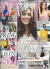 Grazia magazine Kate Middleton Angelina Jolie Victoria Beckham Spring fashion