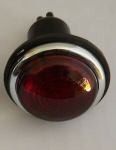 Lucas type L488 rear brake / stop & tail lamp / light RED GLASS COMPLETE