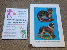 Rarelast 1! Sir Peter Blake-CAT & DOG ART Bagagliaio Fair 2014 Art Print & Flyer