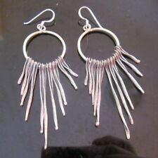 Fine Silver Sterling 925 Earrings Dangle Night Witch Voodoo Sorceress Theme