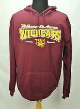 L NCAA Bethune Cookman WILDCATS Maroon Hooded Sweatshirt Hoody Large