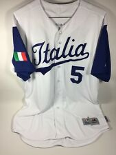 Marco Mazzieri Italy Manager Game Used WBC Jersey MLB Hologram