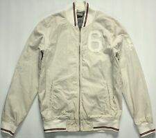 Nike LeBron James Bomber Varsity Zip Jacket - Medium M - Cream Canvas - Mens