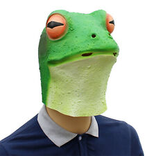 Frog Mask Reptile Animal Toad Masks Full Head Fancy Dress Stag Party Costume