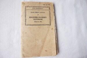 1941 War Department Basic Field Manual Engineer Soldiers Handbook USA WW2
