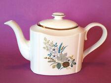 Arthur Wood Teapot - Rectangular Shape - Blue Floral Motif - Made In England