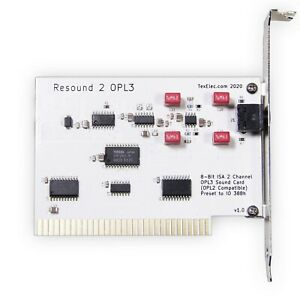 Resound 2 OPL3 – 8 Bit ISA Adlib Compatible Sound Card - by TexElec