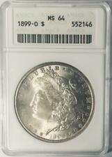 1899-O Morgan Silver Dollar - ANACS  MS-64 -  Certified Mint State 64