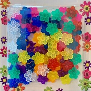 Mini X-small double-sided Assorted Color Flower Barrettes (Snaps) braids, twists