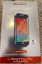 ZAGG InvisibleShield Glass+ Luxe Screen Protector for iPhone 8 Plus 7 Plus Black