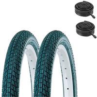 (PAIR of) KENDA Kontact 20 x 2.25 Kids Bike Tyres & Tubes Semi Slick / Tarmac