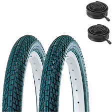 (PAIR of) KENDA Kontact 18 x 2.0 Kids Bike Tyres & Tubes Semi Slick / Tarmac