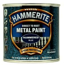 Direct To Rust Metal Paint - Hammered Blue - 250ml 5092936 HAMMERITE