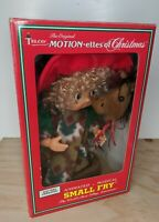 "Telco 12"" Small Fry Motionette Christmas Boy With Horse Animated Musical 1994"