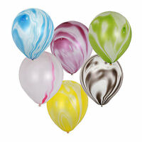 "Hot Tye Dye 12"" Partymate Latex Balloons Birthday Party Decor- Tie Dye Random"