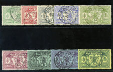 "New Hebrides 1911 KGV ""Weapons & Idols"" set complete VFU. SG 18-28. Sc 17-25."