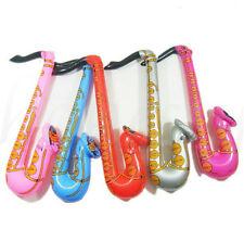 60cm Inflatable Jazz Instrument Musical Fancy Party Decoration Blow Up Saxophone