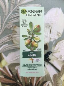 Garnier ORGANIC RICH ARGAN Nourishing Moisturiser for DRY SENSITIVE SKIN 50ML
