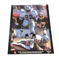 Emmitt Smith Reebok Football Poster Vintage 1993 NFL MVP Dallas Cowboys Man Cave