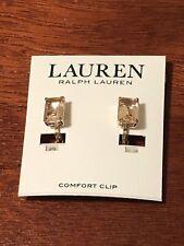lauren ralph lauren clip on earrings new with tags