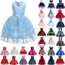 Kids Baby Girls Flower Princess Lace Tutu Dress Wedding Bridesmaid Party Gown UK