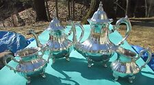 MINT Louis Philippe Pattern 4 Piece Tea & Coffee Set By Towle Silver Plated