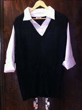 AUTOGRAPH BLACK/WHITE SHIRT/VEST ALL IN ONE TOP SIZE L NEAR NEW