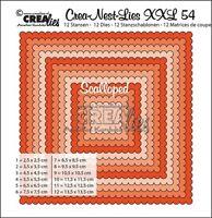 Crealies Crea-nest-dies XXL No. 54 Scalloped SQUARES Cutting Dies