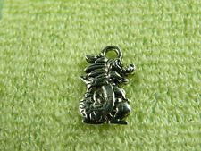 100pcs Silver Color Dragon Charms Jewelry DIY 15x10x3mm zn47975