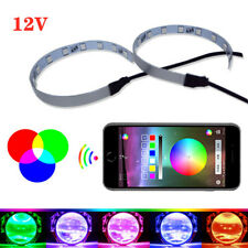 12V Car Auto Aperture LED Lens Angel Eye Mobile App Control Atmosphere Headlight