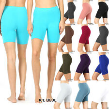 Women's Fitness Bike Shorts Soft Stretch Leggings Cotton Spandex Workout Yoga