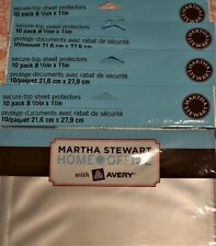 New Listingmartha Stewart With Avery Secure Top Sheet Protectors 8 12 X 11 Lot Of 4 Pack