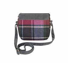 EARTH Squared - Sac bandoulière messager - LAINE TWEED - Damson - 29x15x5cms