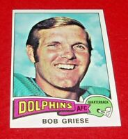 1975 fOOTBALL BOB GRIESE TOPPS CARD  #100 Ex-Mt Dolphins