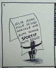PEYNET Raymond : Annonce matrimoniale - GRAVURE humoristique signée  #1943