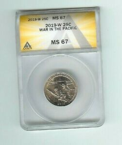 2019 w war in the pacific quarter  anacs ms67