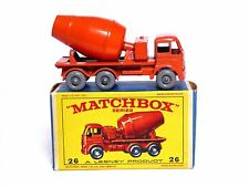 Matchbox Lesney No.26b Foden Cement Mixer E3 Box (GPW, NO SILVER TRIM, VN MINT)