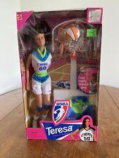 Barbie Wnba Teresa Doll Rebecca Lobo With Basketball Hoop Nrfb