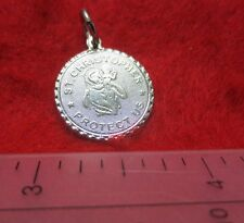 14KT WHITE GOLD EP ST. CHRISTOPHER CHARM-1526