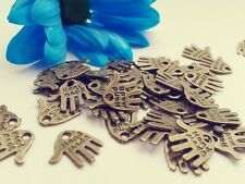Antique Bronze handmade Charms 50 pcs Steampunk Vintage hand Pendants Kitsch