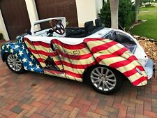 2017 ACG 39 Roadster Golf Cart Custom Street Legal Lsv 4 Passenger stars stripes