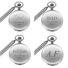 Gift Box Gift For Dad Present Personalised Engraved Fathers Day Pocket Watch In