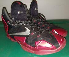 Nike Lebron 11 XI Black University Red 616175 001 Miami Heat Away Sz 12