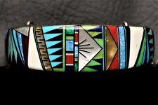 Navajo Style Vintage Stone Inlay Sterling Silver  Bracelet  by James Mason?