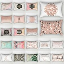 "12""x 20"" Short Plush Pillow Case Waist Throw Cushion Cover Fashion Sofa Decor"