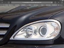 Mercedes ml W163 Cromo ABS Cabeza Luz Trim, 1998-05.